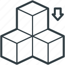 blocks, boxes, cubes, square box, squares icon