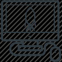 computer, desktop, internet game, online game, video game icon