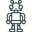 advanced technology, bionic robot, mechanical man, robot, robotic machine icon