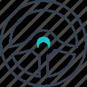 control, garage, interior, steering, wheel icon