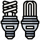 bulb, ecology, fluorescent, idea, invention, light, technology icon