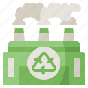 buildings, center, eco, ecology, environment, factory, recycling icon