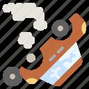 broken, car, crash, damage, engine icon