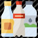 bottle, drink, food, healthy, plastic, restaurant, water icon