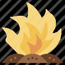 burn, destroy, fire, incineration, nature, trash icon