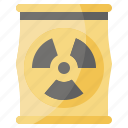 radiactive, pollution, ecology, environment, contamination, radioactive, barrel icon
