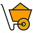 cart, dray, mine, trolley icon