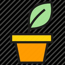 garden, growth, leaf, plant pot, seed icon