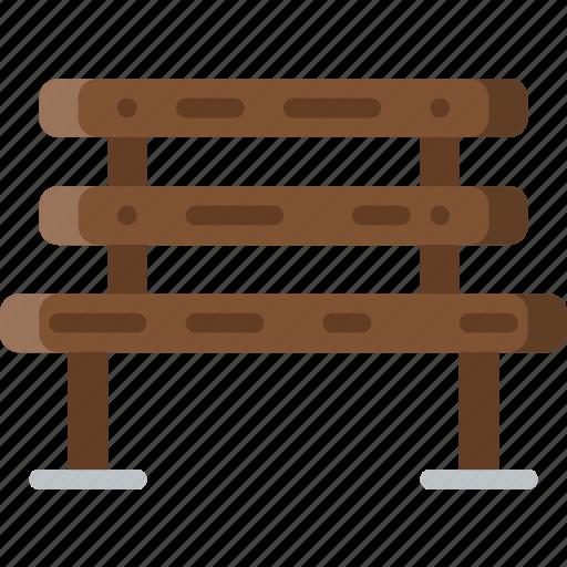 bench, flower, garden, plant, soil icon