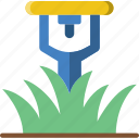 flower, garden, plant, soil, sprinkler icon