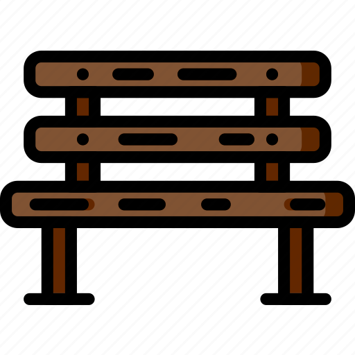bench, flower, garden, plant, soil icon