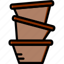 flower, garden, plant, pots, soil icon