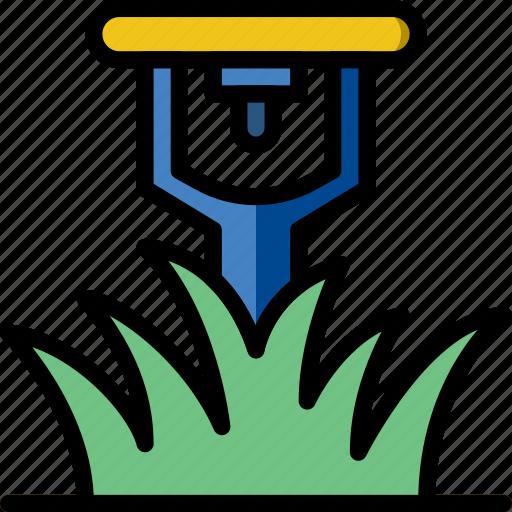 flower, garden, plant, soil, sprinkler icon