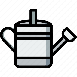 can, flower, garden, plant, soil, watering icon