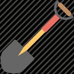 digging soil, digging tool, garden tool, moving soil, shovel icon