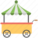 cart, cart icon, flat, flower carrier, icon, plant carrier icon