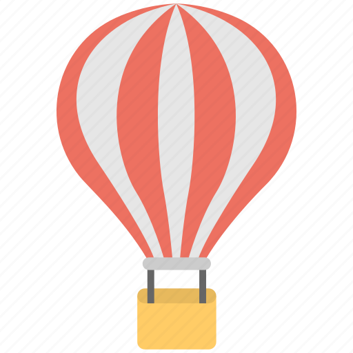 air ride, big balloon, hot air balloon, ride, travelling icon