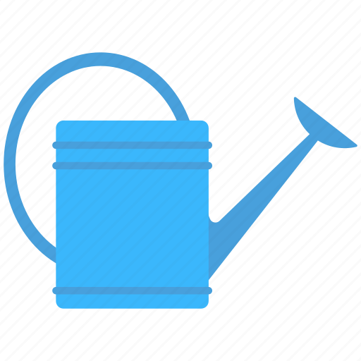 blue can, water, watering can, watering flowers, watering plants icon