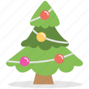 christmas tree, colorful balls, decoration, tree, tree decoration icon