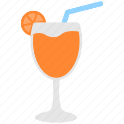 glass, glass stem, goblet, juice, straw icon