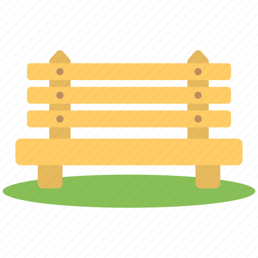 bench, brown bench, park, seats, wooden bench icon