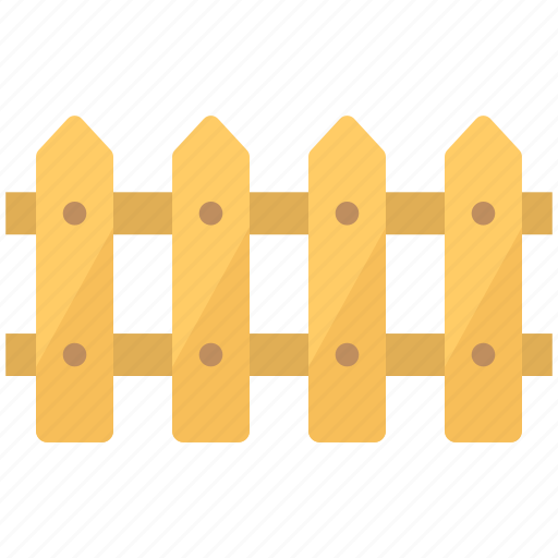 fence, flat icon, open area, outdoor fence, wooden fence icon