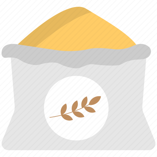 flat icon, sack, sack icon, wheat flour, wheat icon icon