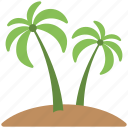 green trees, palm, palm trees, soil, trees icon