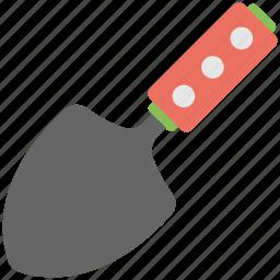 digging, hand trowel, metal blade, planting, trowel icon