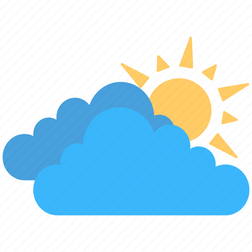bright sun, clouds, sun, sun hiding, weather icon