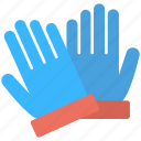 blue gloves, gloves, hand protector, pair, protector icon