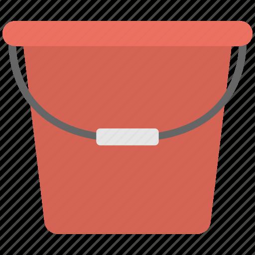 flat icon, plastic tub, red tub, tub, water tub icon