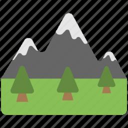 beautiful view, garden, garden view, greenery, mountains icon