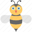 honey bee, honey bee icon, honey collector, insect, yellow bee icon