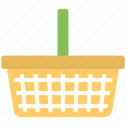 basket, flat icon, fruit collector, plastic basket, vegetable collector icon
