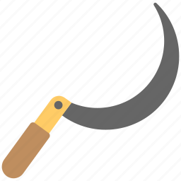 blades, curved blades, hand held, sickle, sickle knife icon