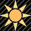 sunlight, summer, weather, light, sun, warmth, sunny icon