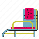 deckchair, garden, outdoor, park icon