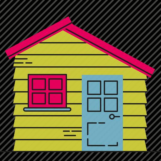 garden, house, storage, wooden icon