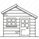 garden, house, storage, wooden icon