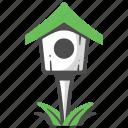 bird, bird house, birdhouse, decoration, garden, house, nest icon