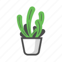 plant, garden, pot, decoration, prickly, cactus, thorn icon