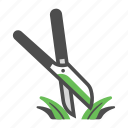 cut, garden, gardening, grass, grass scissors, scissors, shears icon