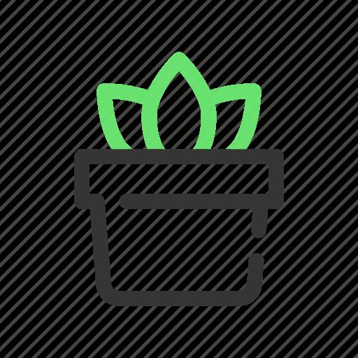 garden, gardening, green, leaf, plant, pot icon