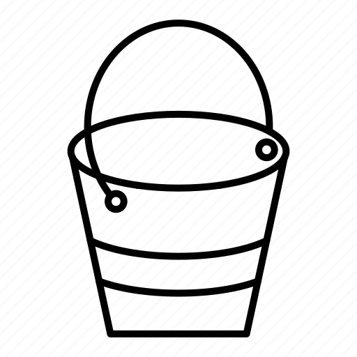 bucket, container, gardening, pail, pot, water icon