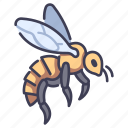 bee, garden, honey, insect, nature icon