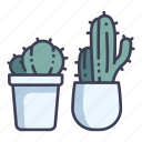 garden, decoration, thorn, plant, cactus, pot icon