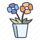 garden, pot, nature, flora, plant, flower, blossom icon