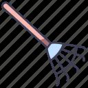 autumn, farm, garden, gardening, rake, raking, tool icon