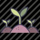 garden, green, grow, leaf, plant, soil, tree icon